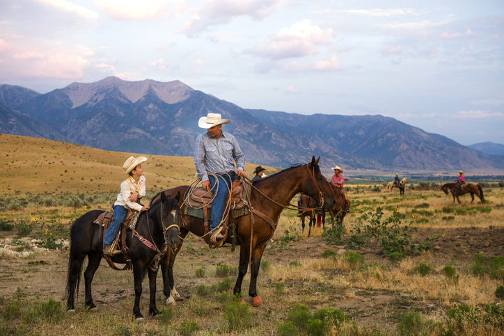 Father and Son Ranchers