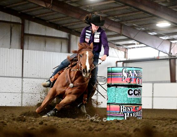 Hallie Hanssen and MS French Walla Walla 2021 Sand Cup Futurity Champions., Omega Fields Spokesperson Hallie Hanssen and MS French Walla Walla are the  2021 Sand Cup Futurity Champions